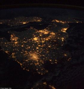 Great Manchester z vesmíru!